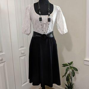 George black flare skirt